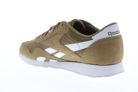 Reebok Classic Nylon Mens Brown Suede & Nylon Low Top Sneakers Shoes
