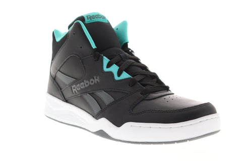 Reebok Royal Bb4500 Hi2 Mens Black Leather High Top Sneakers Shoes
