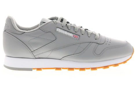 Reebok Classic Leather MU DV7172 Mens Gray Casual Lifestyle Sneakers Shoes