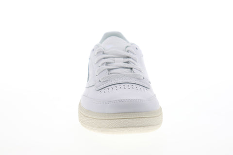 Reebok Club C 85 DV7243 Womens White Leather Low Top Lifestyle Sneakers Shoes