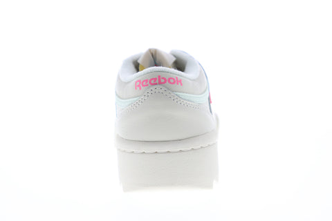 Reebok Workout Ripple OG DV7783 Womens White Leather Lifestyle Sneakers Shoes