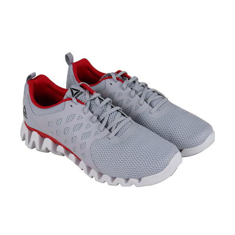 Reebok Zig Pulse 3.0 Mens Gray Mesh Athletic Lace Up Running Shoes