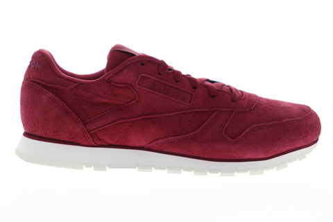 Reebok Classic Leather DV8508 Womens Red Suede Low Top Lifestyle Sneakers Shoes
