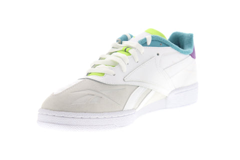 Reebok Club C RC 1.0 DV8659 Mens White Leather Low Top Lifestyle Sneakers Shoes