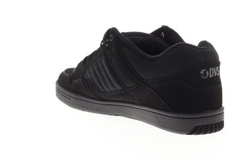 DVS Enduro 125 Mens Black Leather Lace Up Skate Sneakers Shoes