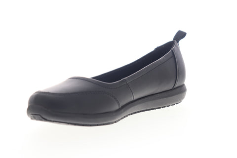 Emeril Lagasse Julia Smooth Womens Black Leather Slip On Ballet Flats Shoes