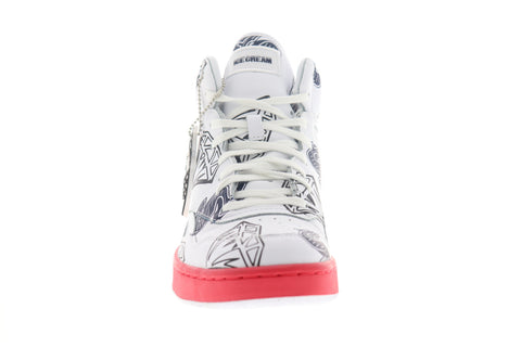 Reebok BB 4600 MU FW7501 Mens White Leather High Top Lace Up Sneakers Shoes
