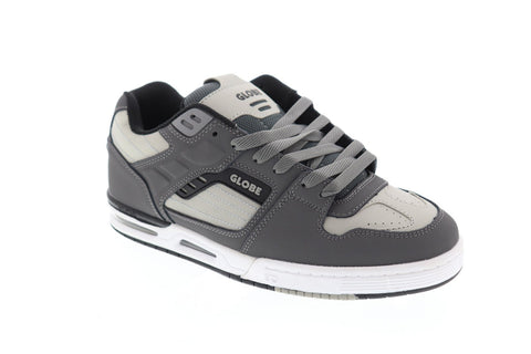 Globe Fury Mens Gray Synthetic Athletic Lace Up Skate Shoes
