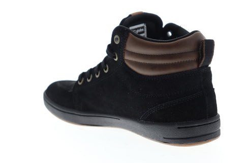 Globe GS Boot GBGSBOOT Mens Black Suede High Top Lace Up Skate Sneakers Shoes