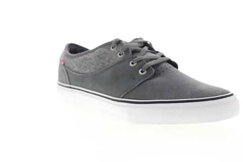 Globe Mahalo GBMAHALO Mens Gray Suede Lace Up Athletic Skate Shoes