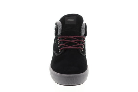 Globe Motley Mid Mens Black Suede Athletic Lace Up Skate Shoes