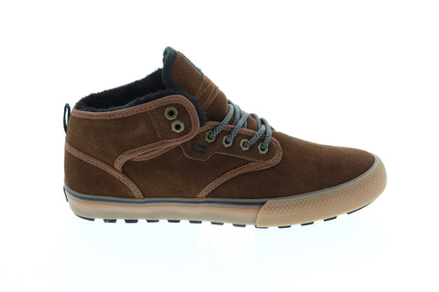 Globe Motley Mid Mens Brown Suede Athletic Lace Up Skate Shoes