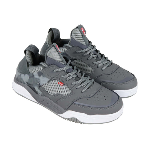 Globe Tilt Evo Mens Gray Nubuck & Synthetic Athletic Lace Up Skate Shoes
