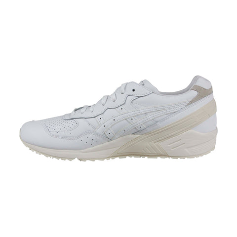 Asics Gel Sight Mens White Leather Low Top Lace Up Sneakers Shoes