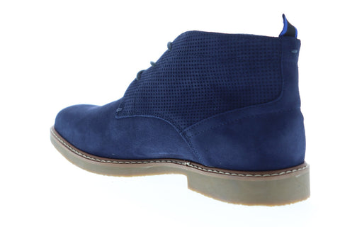 Steve Madden Hardenn Mens Blue Suede Chukkas Lace Up Boots Shoes