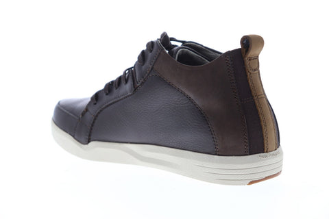 Hush Puppies Lively Genius Mens Brown Leather Low Top Lace Up Sneakers Shoes