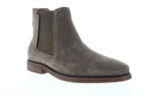 Steve Madden Insider Mens Gray Suede Slip On Chelsea Boots Shoes