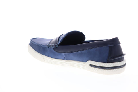 Unlisted by Kenneth Cole Un Anchor JMS8N1005 Mens Blue Penny Loafers Shoes