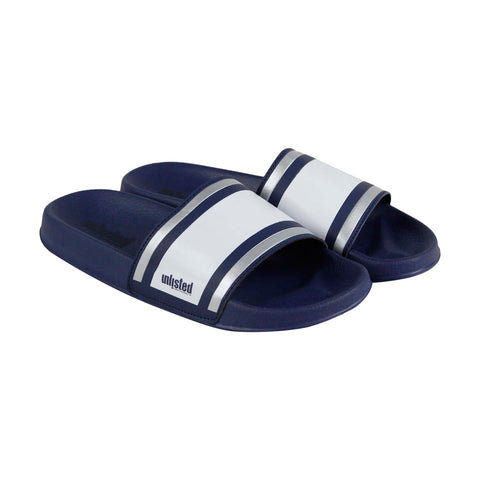 Kenneth Cole Unlisted Form Sandal Mens Blue Slides Slip On Sandals Shoes