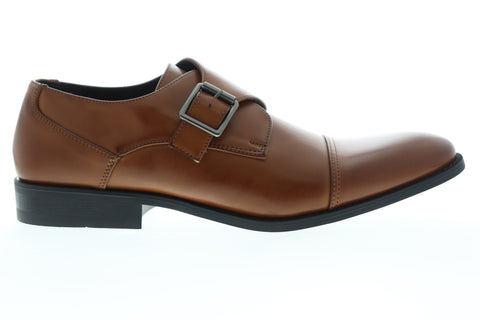 Unlisted by Kenneth Cole Design 30134 Mens Brown Monk Strap Oxfords Shoes