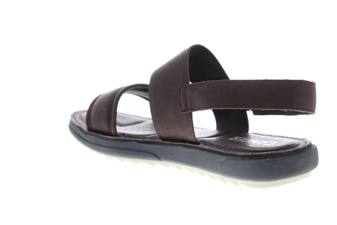 Camper Marges K100051-009 Mens Brown Leather Strap Sport Sandals Shoes