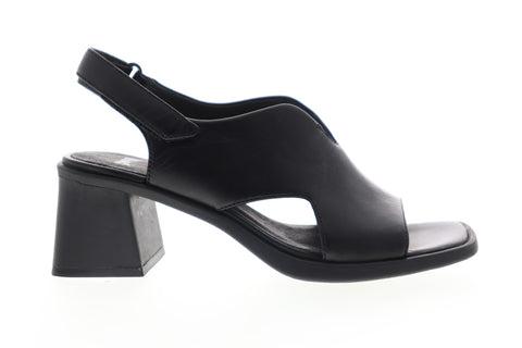 Camper Karolina K200102-004 Womens Black Leather Pumps Heels Shoes