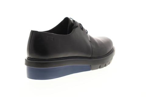 Camper Marta K200114-016 Womens Black Leather Lace Up Oxfords Flats Shoes