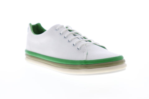Camper Hoops K200403-001 Womens White Canvas Low Top Lace Up Euro Sneakers Shoes