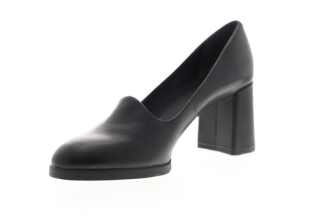 Camper Kara K200557-001 Womens Black Leather Slip On Pumps Heels Shoes