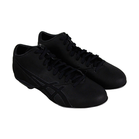 Asics Crossvictor Qt Mens Black Synthetic Athletic Lace Up Baseball Shoes