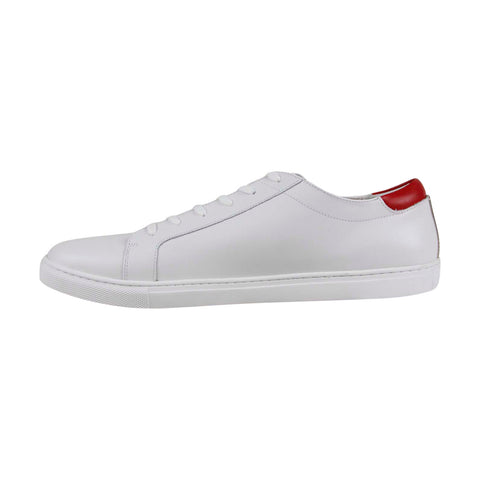 Kenneth Cole New York Kam Cny Mens white Leather Low Top Sneakers Shoes