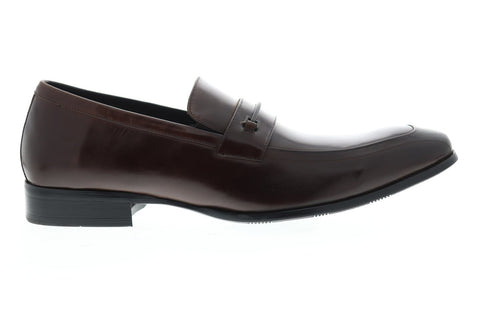 Kenneth Cole Unlisted Design 10082 Mens Brown Casual Dress Loafers Shoes