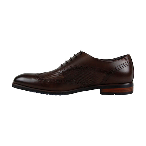 Steve Madden Langdon Mens Brown Leather Casual Dress Lace Up Oxfords Shoes