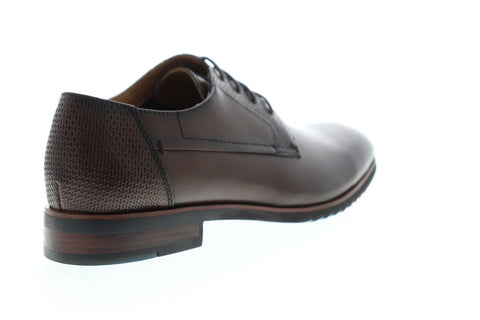 Steve Madden Lansing Mens Brown Leather Dress Lace Up Oxfords Shoes