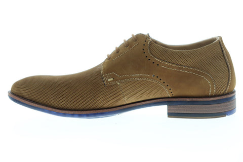 Steve Madden Larsen Mens Brown Nubuck Casual Lace Up Oxfords Shoes