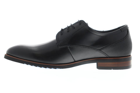 Steve Madden Lawton Mens Black Leather Casual Dress Lace Up Oxfords Shoes