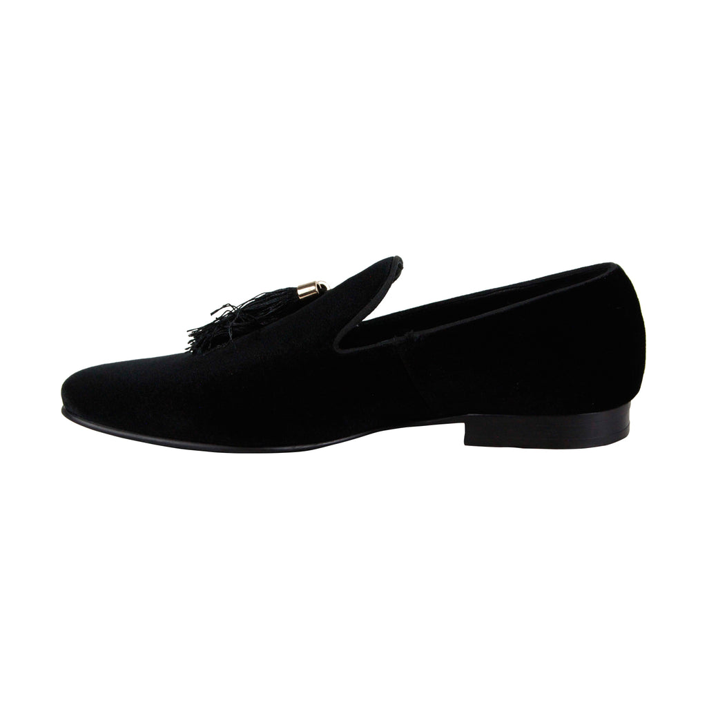 9786550dd496cf Steve Madden Liberty Mens Black Suede Casual Dress Slip On Loafers Shoes