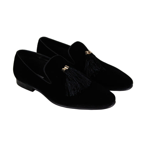 Steve Madden Liberty Mens Black Suede Casual Dress Slip On Loafers Shoes