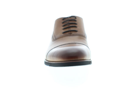 Steve Madden Lourdes Mens Brown Leather Dress Lace Up Oxfords Shoes