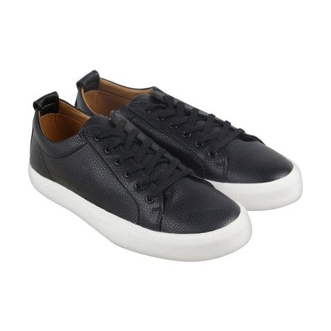 Steve Madden M-Ingle Mens Black Leather Low Top Lace Up Sneakers Shoes