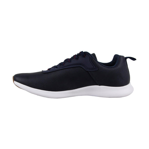 Steve Madden M-Kriss Mens Blue Nubuck Low Top Lace Up Sneakers Shoes