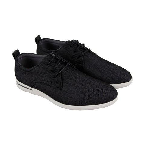 Steve Madden M-Vast6 Mens Black Canvas Casual Dress Lace Up Oxfords Shoes