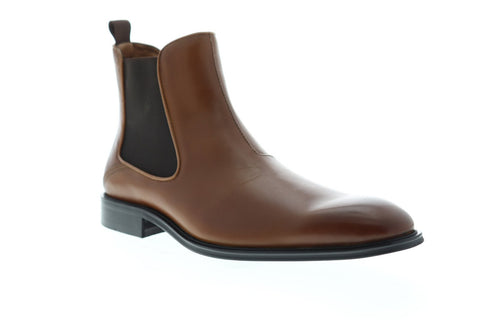 Steve Madden Malice Mens Brown Leather Casual Dress Slip On Boots Shoes