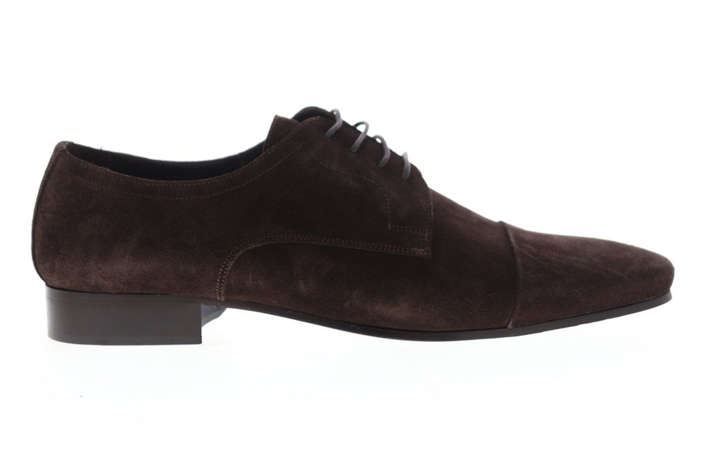 fde91db9076dc Bruno Magli Martico Mens Brown Suede Casual Dress Lace Up Oxfords Shoes