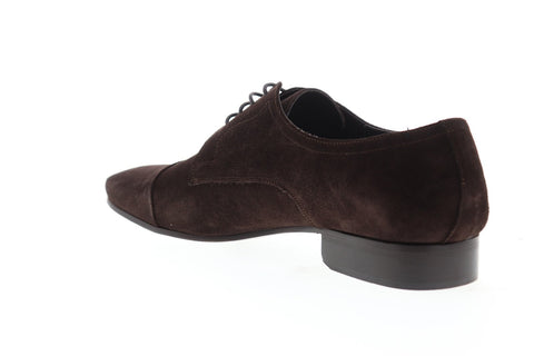 Bruno Magli Martico Mens Brown Suede Casual Dress Lace Up Oxfords Shoes