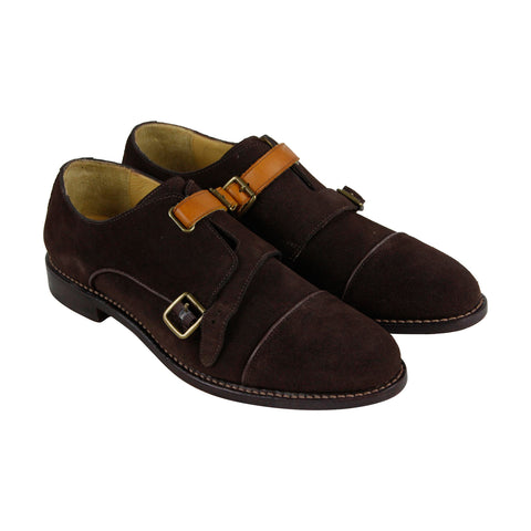 Michael Bastian Brando Monk Mens Brown Suede Strap Oxfords Shoes