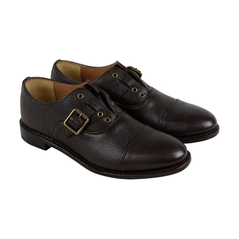 Michael Bastian Brando No Lace Cap Toe Mens Brown Leather Oxfords Shoes