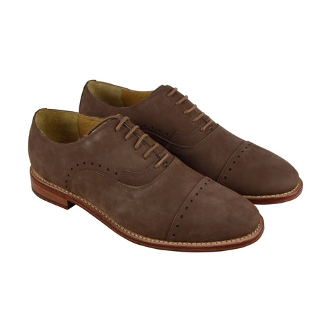 Michael Bastian Brando Cap Toe Mens Tan Nubuck Lace Up Oxfords Shoes