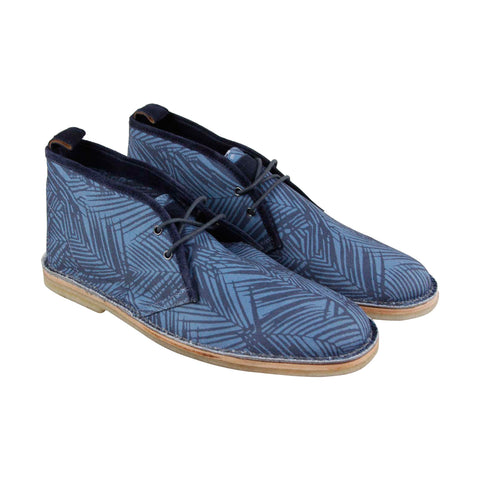 Michael Bastian Stitchout Mens Blue Canvas Casual Dress Lace Up Chukkas Shoes