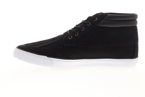 Lugz Boomer MBOOMRC-060 Mens Black Canvas Mid Top Lifestyle Sneakers Shoes
